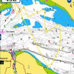 Navionics screenshot - Calshot to Osborne Bay and return - pilotage and sailing skills with the milebuilding club
