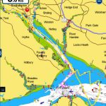 Navionics screenshot - sailing to Osborne Bay and home to Southampton Town Quay