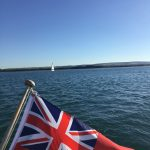 Sailing the Solent on a beautiful day