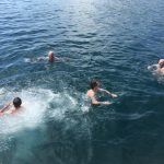 Swimming off Dancing Ledge with the milebuilding club